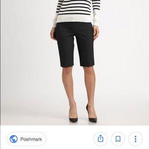 Theory black Bermuda shorts, size 4